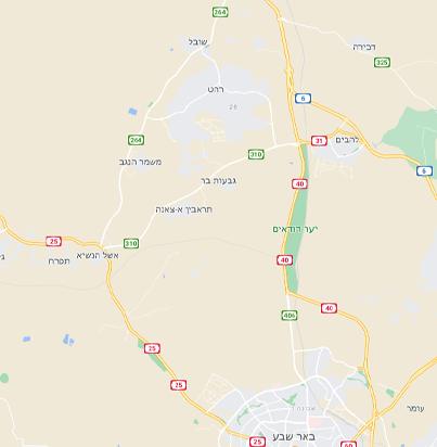 מפת העיר רהט